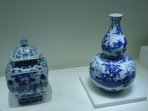 chinese exports - porcelain jar & vase