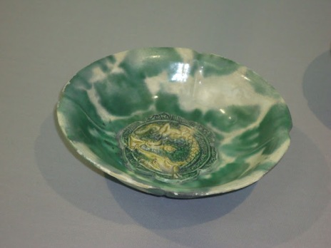 green glazed stoneware from the Yue kilns , Zheijang