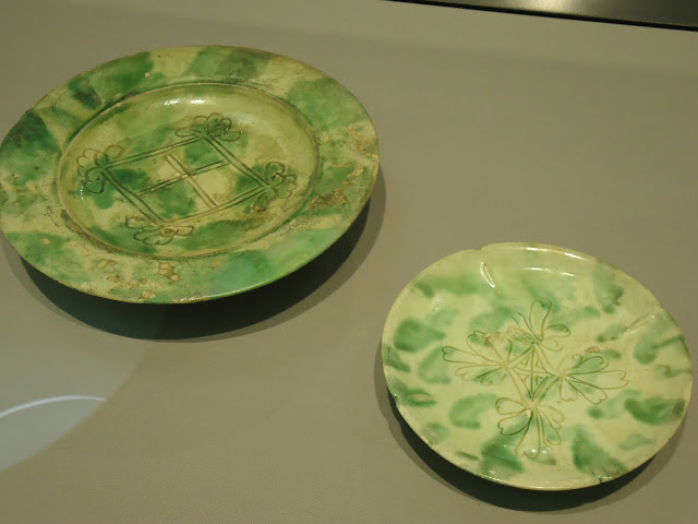 green splashed ceramics from the Gongxian kilns , Henan